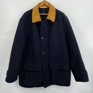 Tibbett Made in England Navy Blue Wool Coat 42